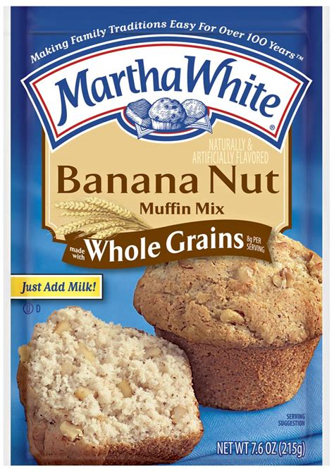 made with whole grains claim whole grain banana nut muffins martha white martha white