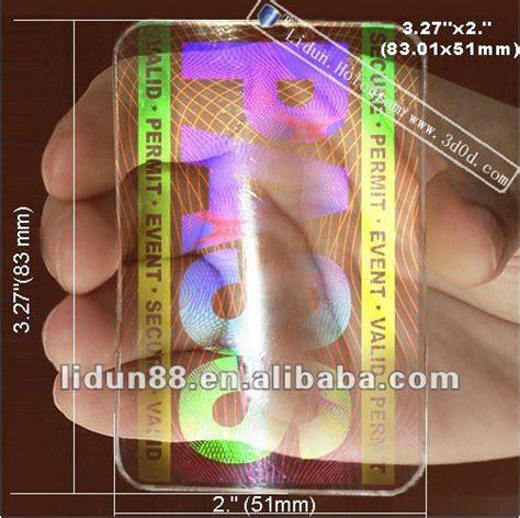 how to make a hologram card card hologram stickers plastic transparent hologram