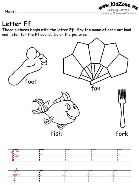 preschool coloring pages letter f learning letters worksheet transition activities