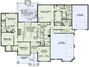 Housing Blueprints Floor Plans Craftsman Style House Plan 4 Beds 3 5 Baths 2470 Sq Ft