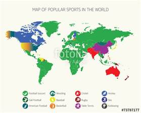quot map of popular sports in the world quot stock image and