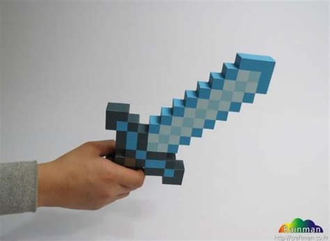 How To Make A Paper Minecraft Sword - make your own minecraft sword and pickaxe paper craft