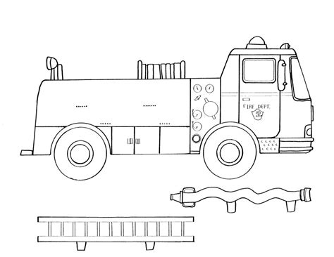 free coloring pages of no fire trucks