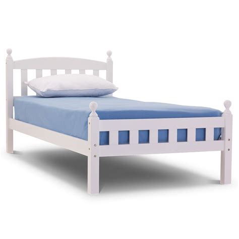 White Single Wooden Bed Frame Florence Wooden Bed Frame Single Or White Or Cherry Finish Traditional Ebay