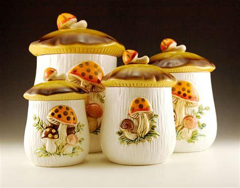 vintage kitchen canisters sets retro kitchen canister set plus napkin holder retro glass