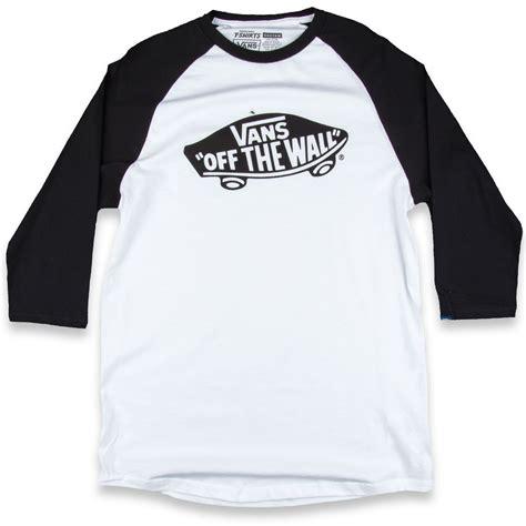 Tees Vans The Wall Tshirt Vans vans otw raglan t shirt white black