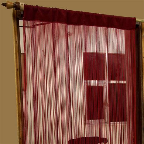 heavy window curtains heavy weight string curtains 90x200cm fly screen room door