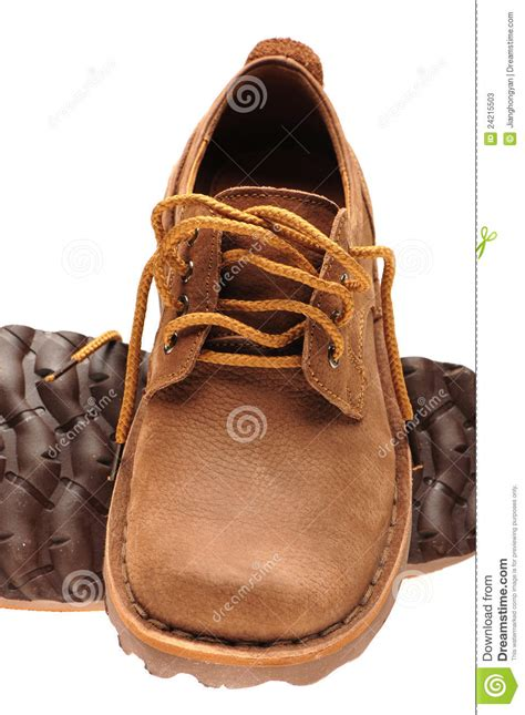 worn leather shoes stock photos image 24215503