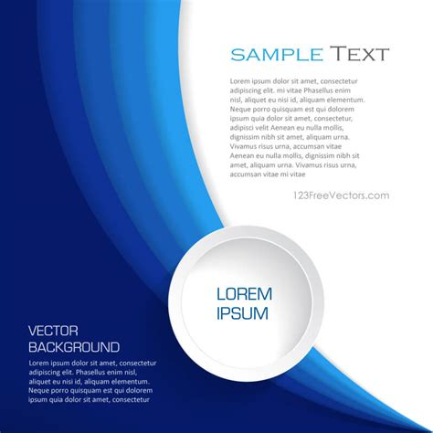free vector layout templates abstract blue background design template vector
