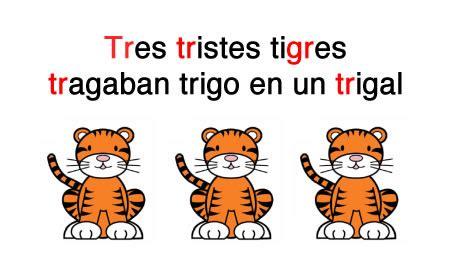 imagenes de tres tristes tigres palabras trabadas