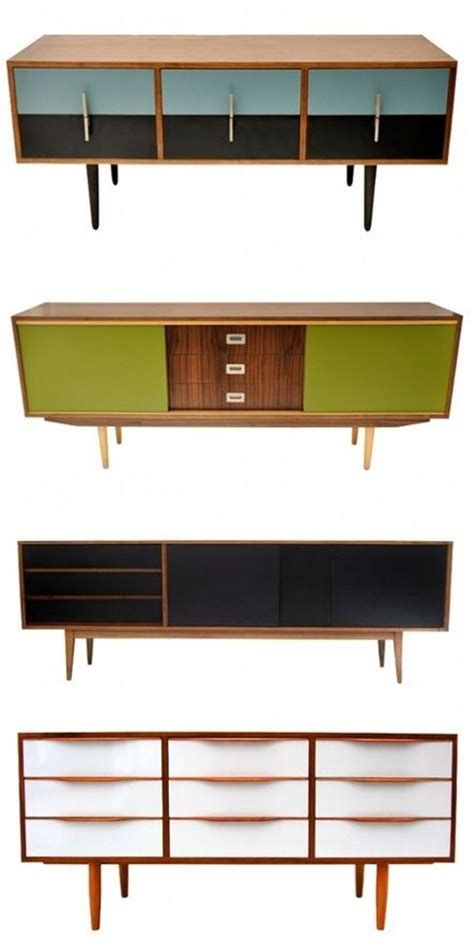 retro modern tv stand design ideas painted restored