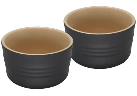 Bathroom Art Ideas Le Creuset Ramekins Black Stoneware