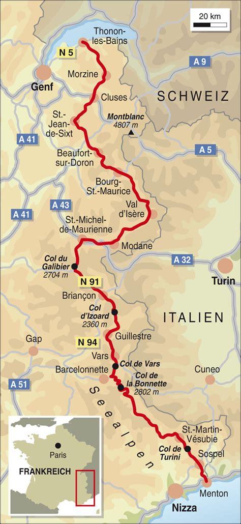 Motorrad Online Maps by Frankreich Spezial Route Des Grandes Alpes Info Karte