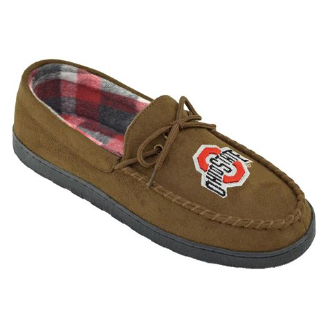 college slippers ncaa s ohio state buckeyes brown moccasin