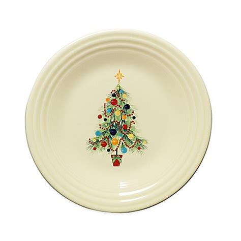 buy fiesta 174 christmas tree luncheon plate from bed bath