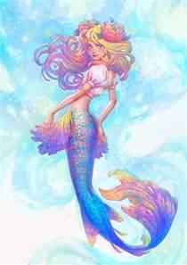create watercolor mermaid illustration adobe illustrator