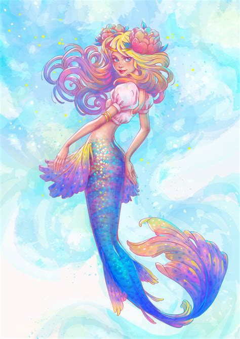 mermaid color how to create a watercolor mermaid illustration in adobe