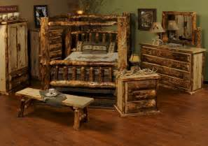 log bedroom furniture beartooth pass rustic aspen canopy bed rustic aspen log furniture minnesota the log