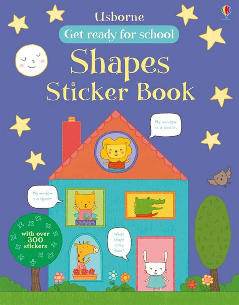 Sticker Book get ready for school shapes sticker book at usborne