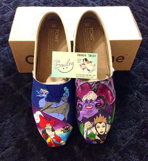 disney villains toe only hand painted toms ursula