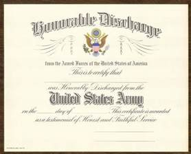 honorable discharge certificate replacement pictures to