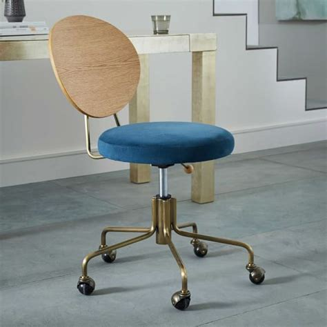 pearl office chair west elm