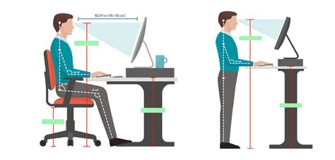 correct height for standing desk the proper height of a standing desk notsitting