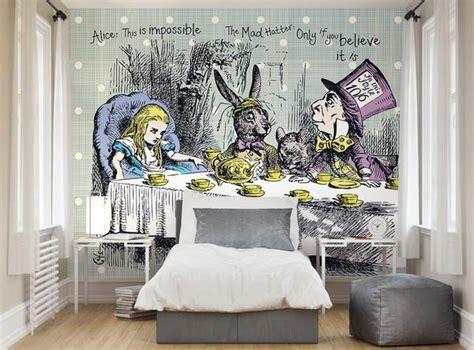 Alice In Wonderland Wall Murals ohpopsi alice in wonderland tea party wall mural