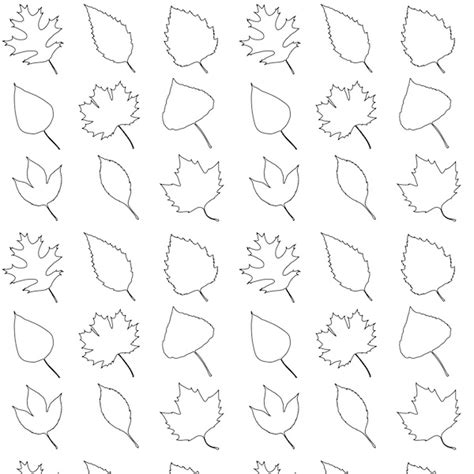 color pattern trees free printable leaves coloring pattern paper