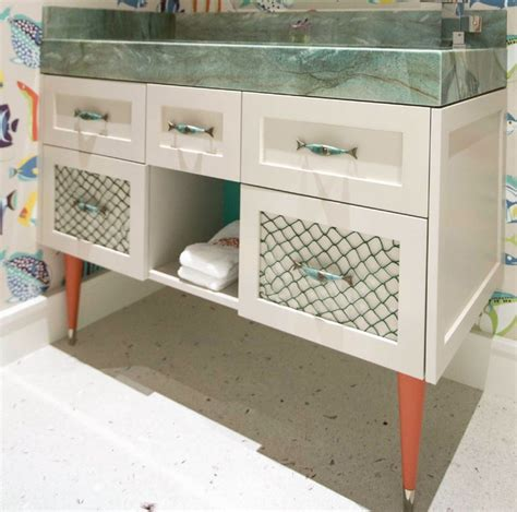 fish themed bathroom fort lauderdale home fish themed bathroom beach style powder room other by