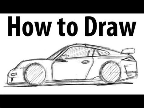 How to draw Porche 911 gt3