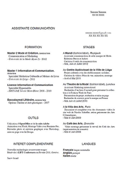 Cv Rédigé Exemple by Exle Resume Exemple Cv Assistante