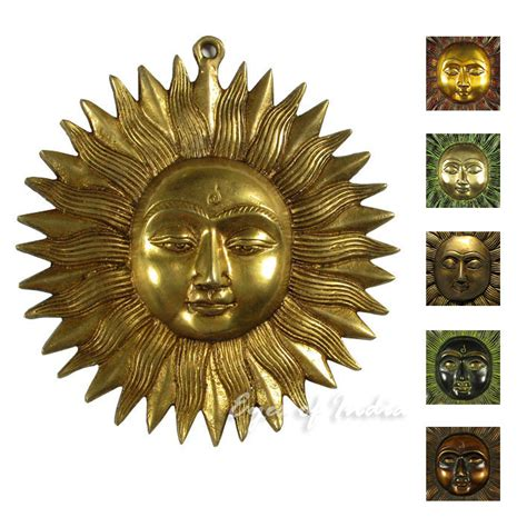 sun sculpture brass sun wall hanging brass artwork from wall art