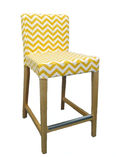 custom bar stool slipcover chevron custom slipcover for ikea henriksdal bar stool