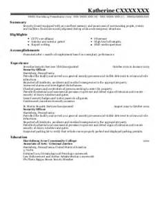 security screening and safety officer resume