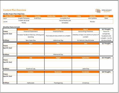free content calendar template 5 excel project management template free