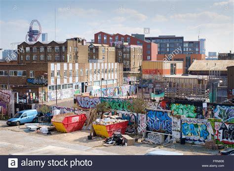 tattoo fixers hackney east london skyline of fish island hackney wick east london across