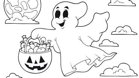 imagenes de halloween infantiles para imprimir dibujo de halloween con personajes para colorear