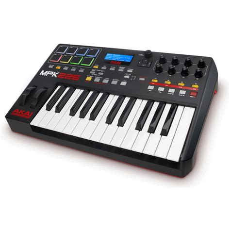 Keyboard Midi akai mpk225 midi controller keyboard at gear4music