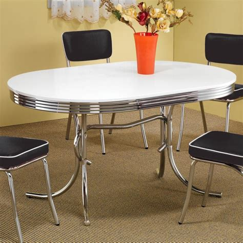 dining table retro dining kitchen table chrome plated