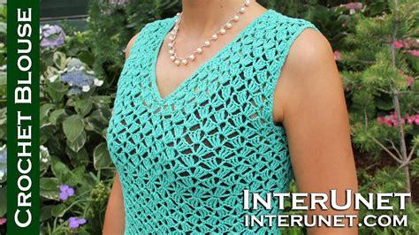 Youtube Blouse Pattern | v neck blouse crochet pattern youtube