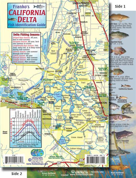 california delta fishing map california delta wildlife and fish card franko s