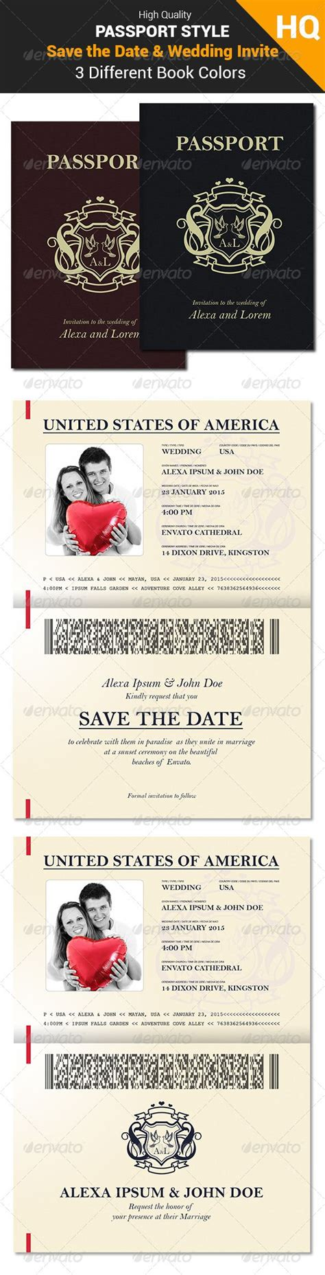save the date passport template 17 best images about wedding invitations on