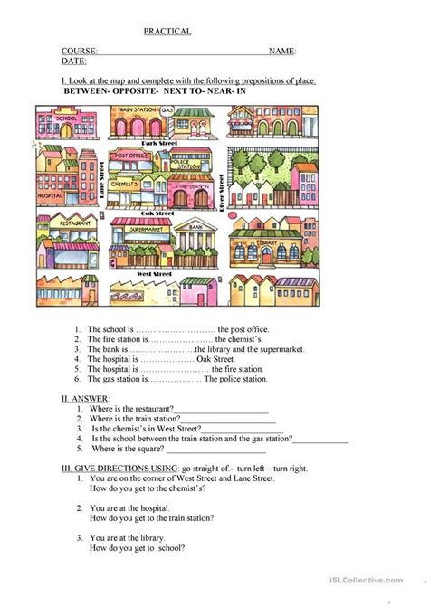 esl printable worksheets prepositions of place esl prepositions of place worksheets prepositions of