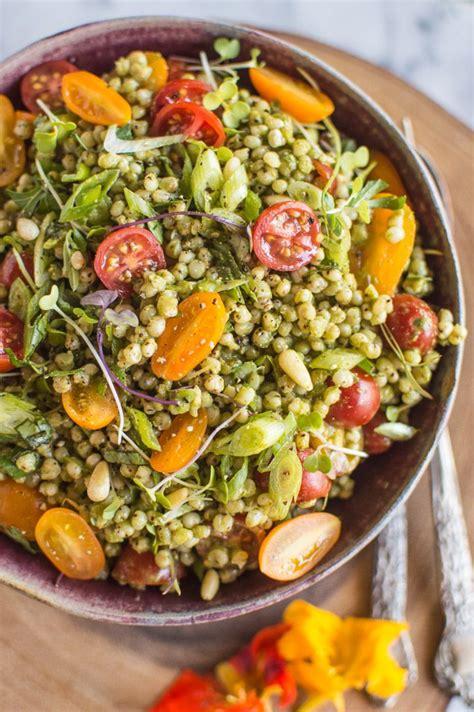 Kale Detox Salad With Pesto by Kale Pesto Sorghum Salad Recipe Summer Dishes Dishes