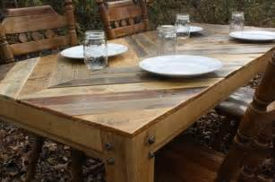 rustic barn wood dining