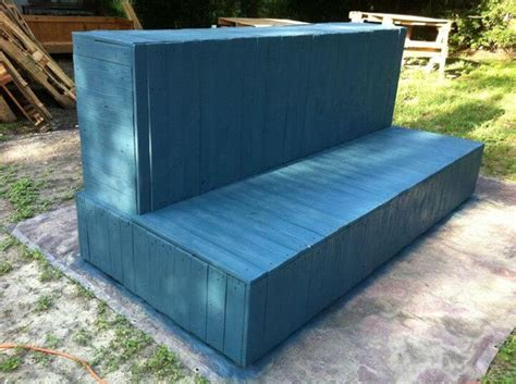 diy storage couch diy beefy pallet couch sofa with storage