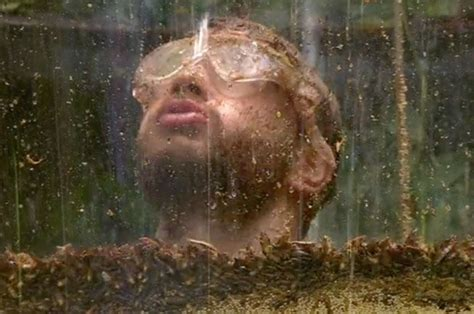 celebrity jungle tonight s trial adam thomas left up to his neck in critters in i m a celeb