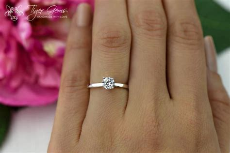 1 2 carat engagement ring classic solitaire ring