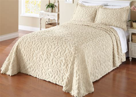 chenille comforters elegant scroll chenille bedspread by collections etc